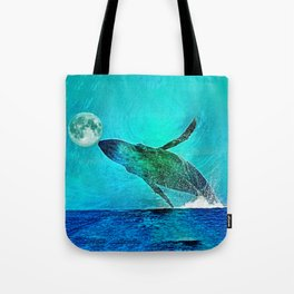THE MOON'S A FOOTBALL Tote Bag