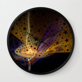 Ethereal Flame with Stars Wall Clock