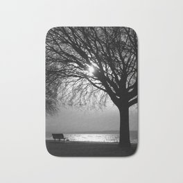 Silver and Silhouettes Bath Mat