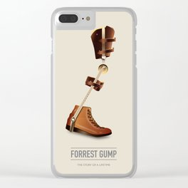 Forrest Gump - Alternative Movie Poster Clear iPhone Case