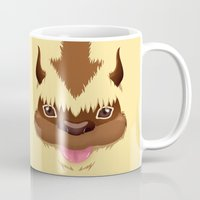 aang Mugs featuring Big Fluffy Thing by Cristina Jiménez Burgos