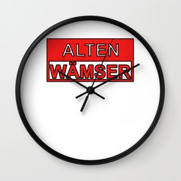 Old Boy Ruhr Area Gift Wall Clock