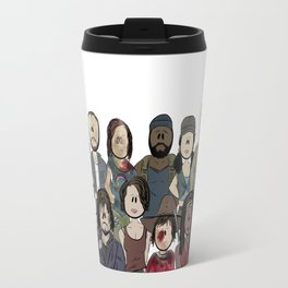 The Walking Dead Lineup Travel Mug