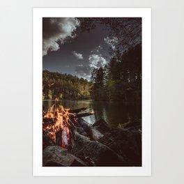 Shoreline Campfire Art Print