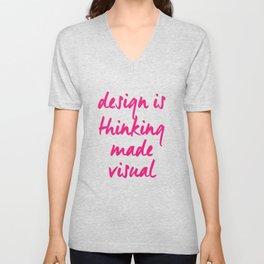 Design Is Thinking Unisex V-Neck