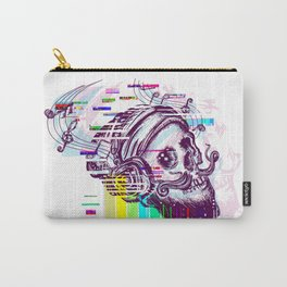 Human skull glitch Carry-All Pouch