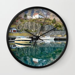 Reflection from Flam Village Wall Clock