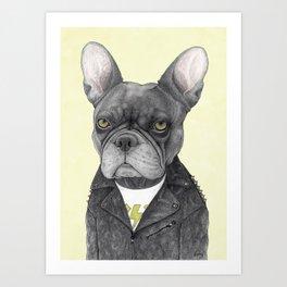 Hard Rock French Bulldog Art Print