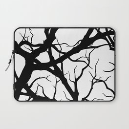 Black n White branche Laptop Sleeve