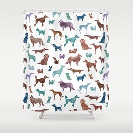 Doggies all over Shower Curtain