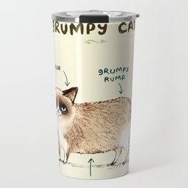 Anatomy of a Grumpy Kitty Travel Mug
