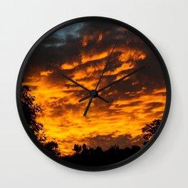 Red sky Wall Clock