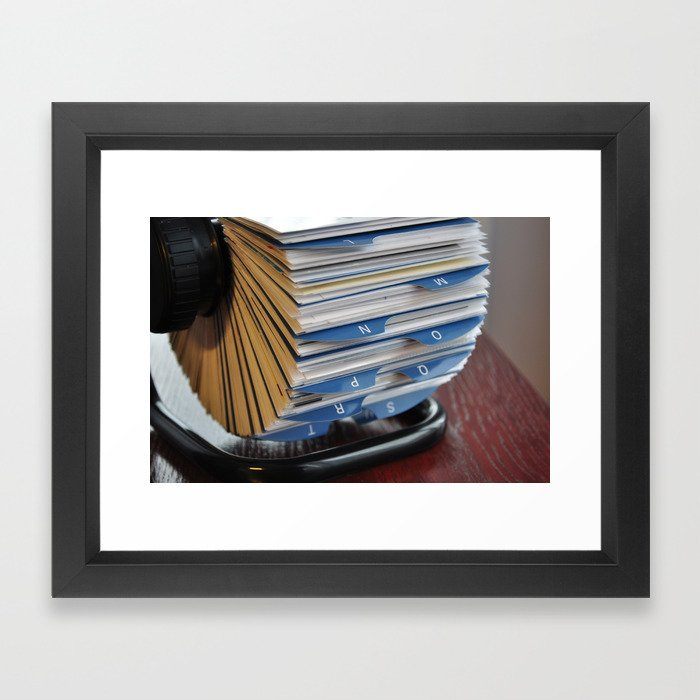 business card holder rolodex Framed Art Print by tony4urban | Society6