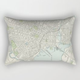 Vintage Map of New Haven Connecticut (1901) Rectangular Pillow