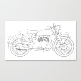 Motor Cycle Outline Canvas Print