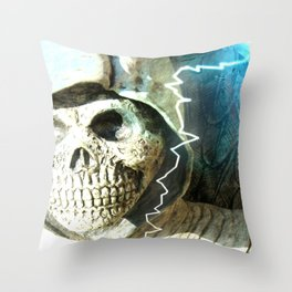 Mr Bones Throw Pillow