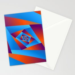 Orange and Blue Spiral Stationery Cards