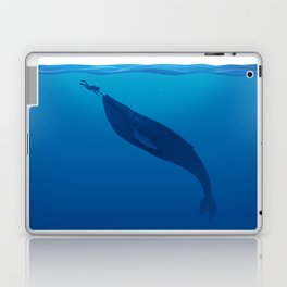 The Whale and a Human Laptop & iPad Skin