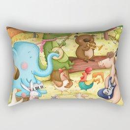 Animal Dance Party Rectangular Pillow