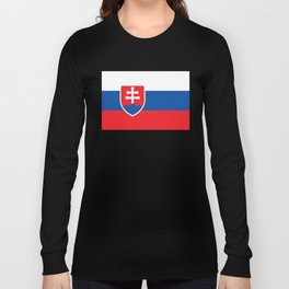 Flag of Slovakia, High Quality Image Long Sleeve T-shirt
