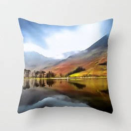 Buttermere (Painting) Throw Pillow