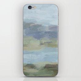 Sky Gray Blue Sage Green Abstract Wall Art, Painting Art, Lake Nature Painting Print, Modern iPhone Skin