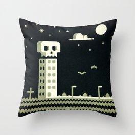 Death Motel Throw Pillow