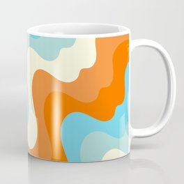 Vintage Summer Palette Mid-Century Minimalist Waves Abstract Art Coffee Mug