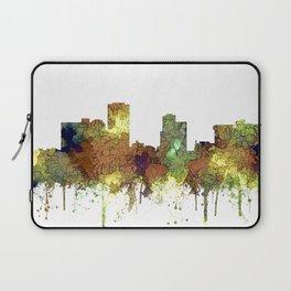 Little Rock, Arkansas Skyline - Safari Buff Laptop Sleeve