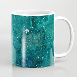 Watercolor galaxy - teal Coffee Mug