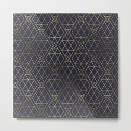 Modern Art Deco Geometric 2 Metal Print