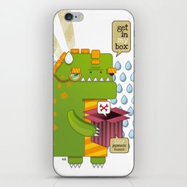 Godzilla get´s hungry!!! iPhone Skin