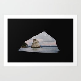 sunrise at cathedral cove Art Print