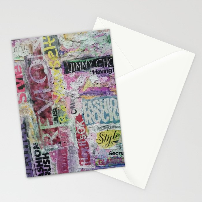 Fashion Rocks Stationery Cards
