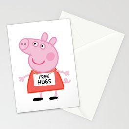 Peppa pig free hugs Stationery Cards