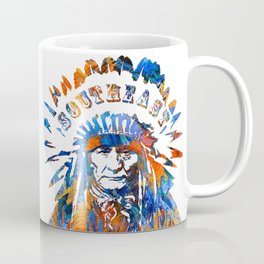 Southeast Native American Logo Design by Sharon Cummings Coffee Mug