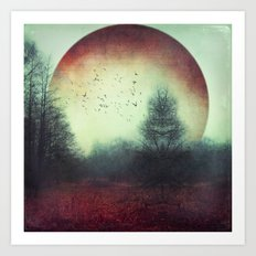 unReality - Fantastic Landscape with Red Planet Art Print