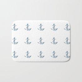 Nautical Seafarer Anchor Retro Seamless Pattern Bath Mat