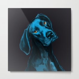 The Dogs: Riley B. Metal Print