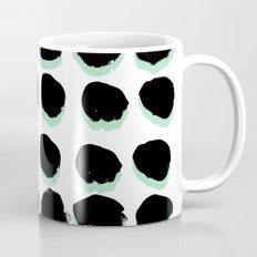 Abstract painted Dots minimal black and white Mug