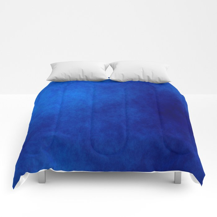 Misty Deep Blue Comforters