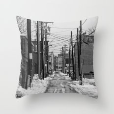 Winter Alley Throw Pillow