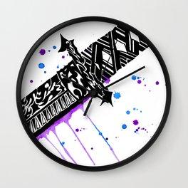 Watercolor Katana Sword Wall Clock