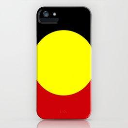 Flag of the australian Aboriginal iPhone Case
