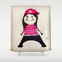 PIRATE LALA Shower Curtain
