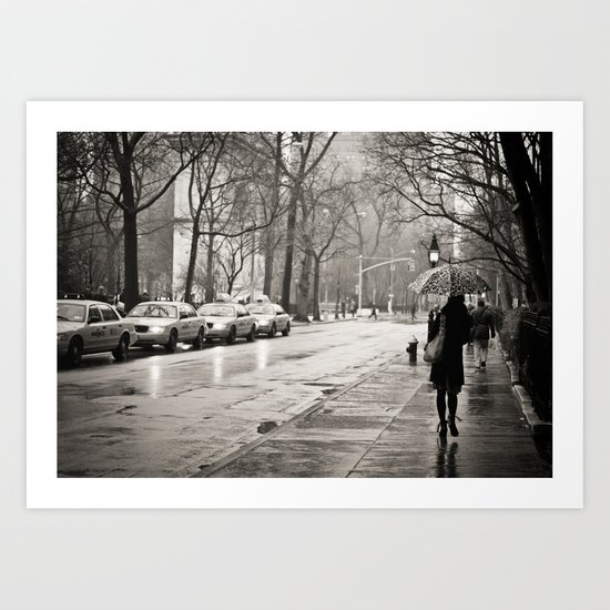 New York City - Rain Art Print