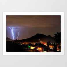 Lookout Mountain and Lightning Art Print