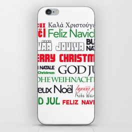 merry christmas in different languages II iPhone Skin