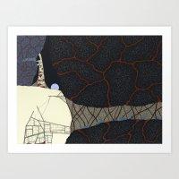 kaiju Art Prints featuring kaiju by thefleafarm (Amy Wright)