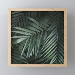 Elegant Green Tropical Leaves Framed Mini Art Print